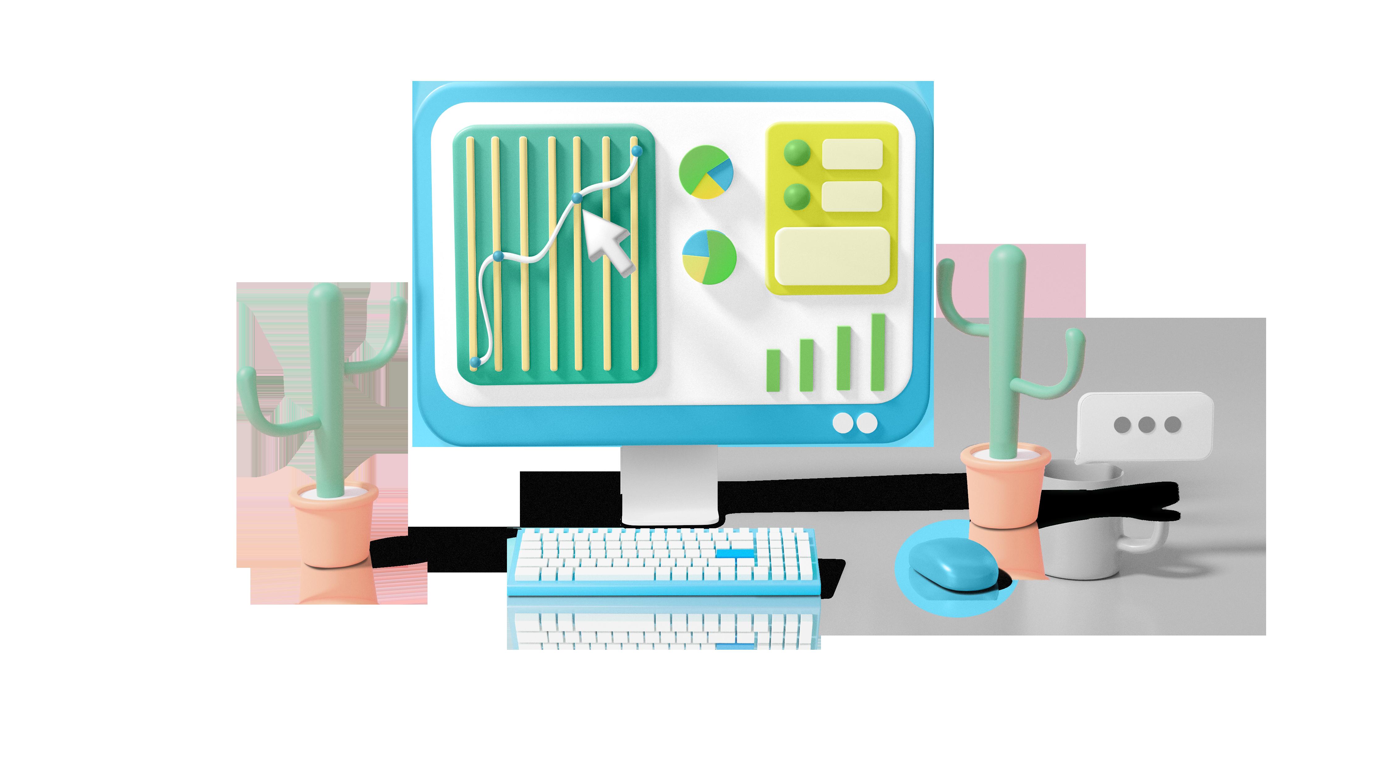 Custom Analytics Reports Graphic